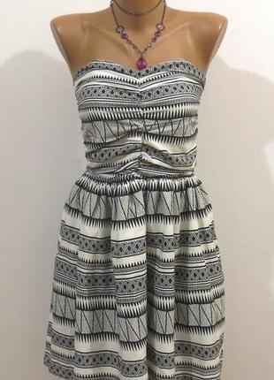 Стильный платье сарафан бандо от famous размер: 44-s
