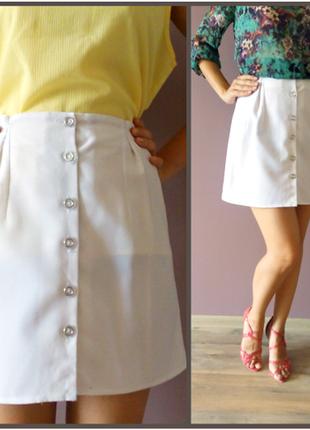 Брендовая легкая летняя белая юбка pimkie