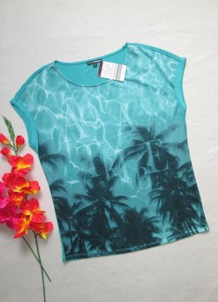 Классная стрейчевая футболка с принтом и надписью швейцарского  бренда charles voegele