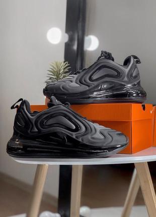 Шикарные женские кроссовки nike air max 720 dark gray2 фото