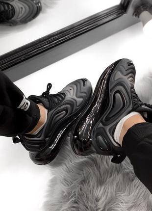 Шикарные женские кроссовки nike air max 720 dark gray7 фото