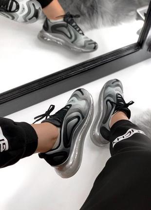 Шикарные женские кроссовки nike air max 720 gray6 фото