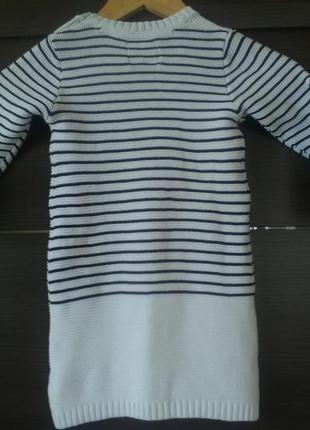 Теплое платье с милым зайчиком3 фото