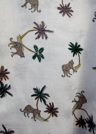 Тонкая рубашка с леопардами