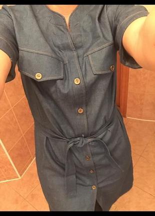 Платье из сверх тонкого легкого летнего джинса