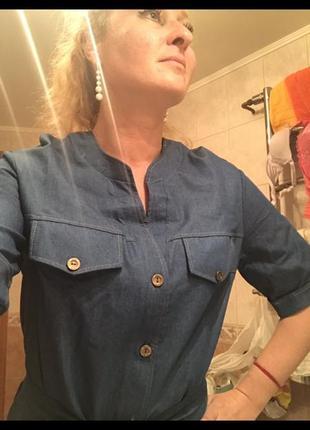 Платье из сверх тонкого легкого летнего джинса3 фото
