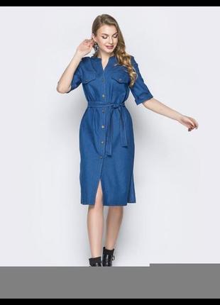 Платье из сверх тонкого легкого летнего джинса4 фото
