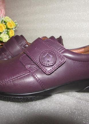Туфли мокасины мягкая кожа цвет марсала ~hotter ~ р 39-40