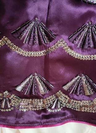 Платье сарафан натуральный шелк расшитый бисером  s/m5