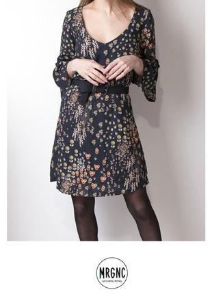 Цветочное платье с рукавами-фонариками kissmydress