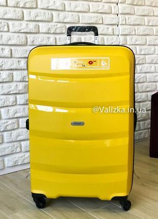 Airtex франция! премиум сегмент. пластиковый чемодан из полипропилена большой желтый