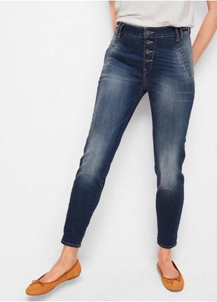 Джинсы бойфренды lindex maia blue tapered jeans1 фото