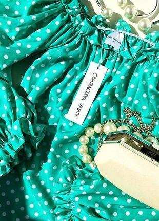 Шикарная дизайнерская блуза! горох - тренд сезона!