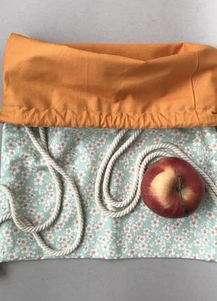Хлопковый рюкзак, эко сумка, пляжная, пляжный7 фото