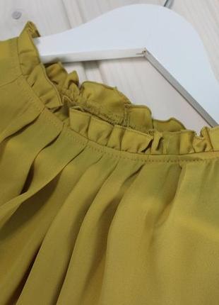 Primark.шикарная горчичная блуза.2 фото