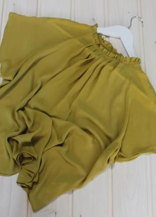 Primark.шикарная горчичная блуза.6 фото