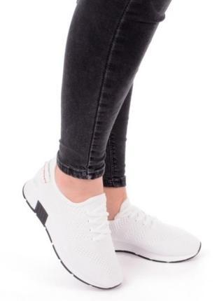 Белые кроссовки мокасины кеды летние