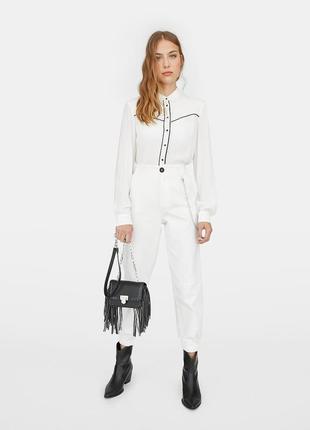 Белые брюки джинсы6 фото