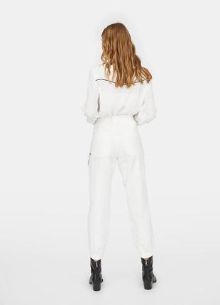 Белые брюки джинсы5 фото