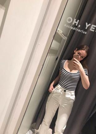Белые брюки джинсы2 фото
