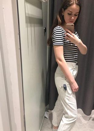 Белые брюки джинсы10 фото