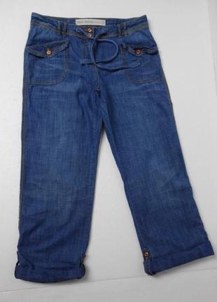 Next. джинсы укороченные на хлястиках. xl размер