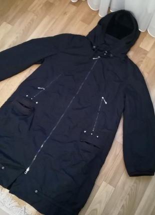 Стильное спортивное тоненькие пальто плащевка на весну размер 54-561 фото