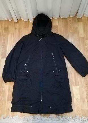 Стильное спортивное тоненькие пальто плащевка на весну размер 54-568 фото