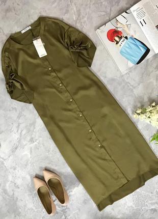 Актуальное платье-рубашка с оригинальными рукавами  dr1916061  mango