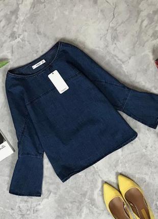 """Стильная блуза """"оверсайз"""" с оригинальными рукавами  bl1916098  mango"""