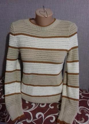 Вязаный полосатый свитерок