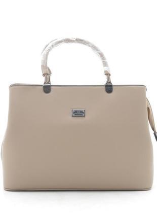 Новая бежевая женская сумка