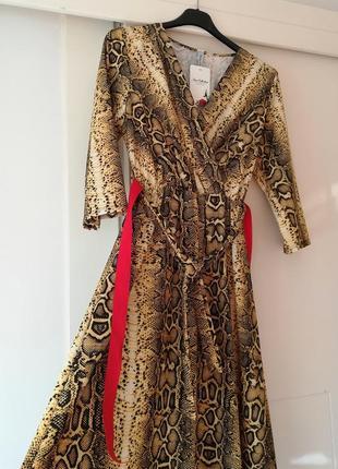 Платье хищный принт италия2019