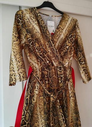 Платье хищный принт италия20192 фото
