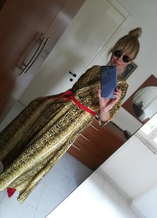 Платье хищный принт италия20193 фото