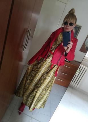 Платье хищный принт италия20194 фото