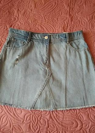 Суперная джинсовая юбка некст1 фото