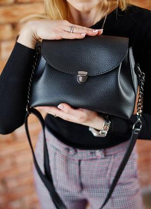 Маленькая черная сумка через плечо молодежная кроссбоди2 фото