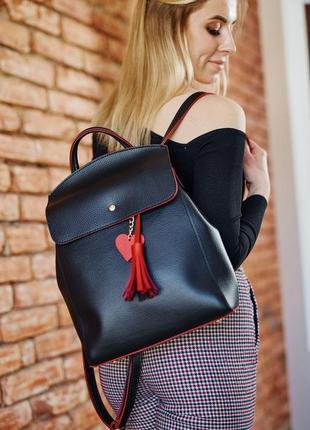 Черная сумка-рюкзак трансформер молодежная вместительная через плечо