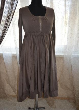 Ассиметричное платье-бохо, реконструкция, шелк, вискоза