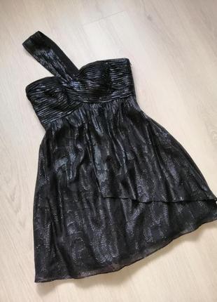 Розкішна шовкова сукня з металіком