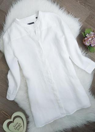 Белая льняная рубашка/блузка marc o'polo