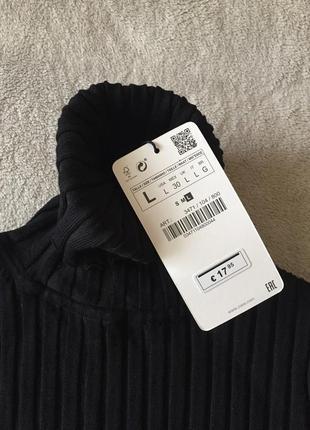 Черный гольф zara водолазка черная свитер с горлом кофта в рубчик гольф5 фото