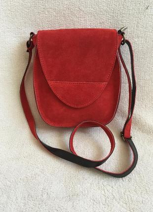 Замшевая красная кроссбоди италия разные цвета