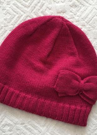 Красивейшая шапочка  цвета марсала, на девочку 3-6 лет