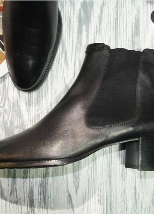 Ecco. кожа. оригинал. комфортные ботинки, челси2 фото