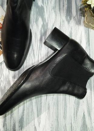 Ecco. кожа. оригинал. комфортные ботинки, челси4 фото