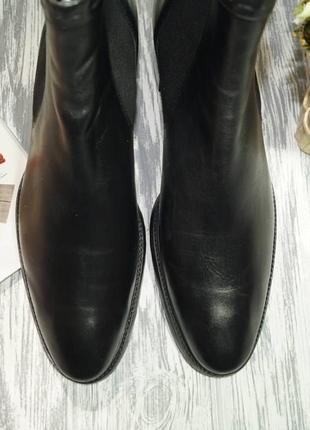 Ecco. кожа. оригинал. комфортные ботинки, челси5 фото