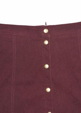 Бордовая юбка с кнопками f&f4 фото