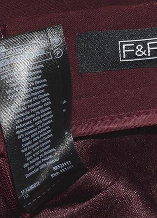 Бордовая юбка с кнопками f&f5 фото
